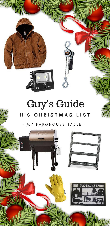 A Guy's Guide His Christmas List Christmas Ideas for Farmers Christmas Gift Ideas for Ranchers Agriculture Christmas Gift Ideas Christmas Present Ideas