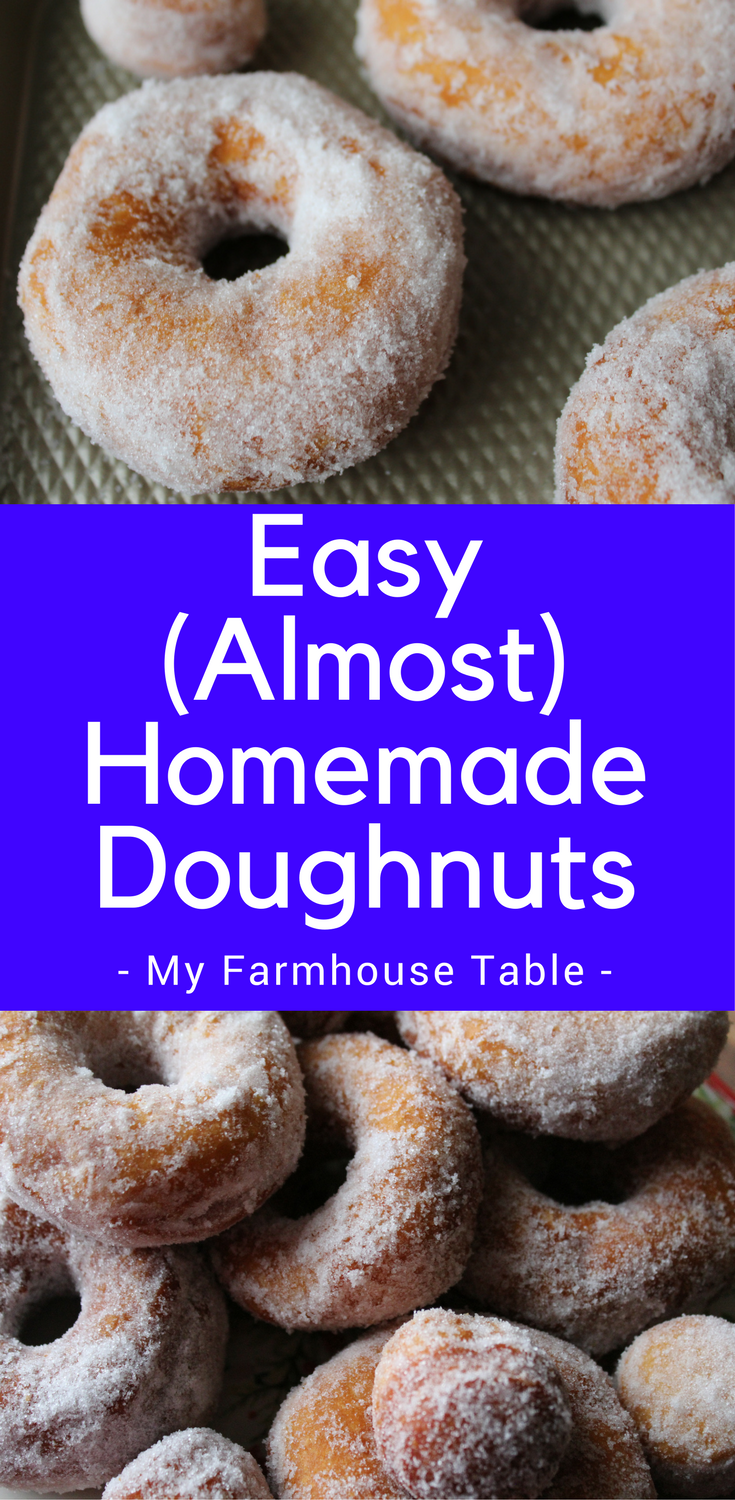 Easy Almost Homemade Doughnuts with Biscuits Cinnamon Sugar Breakfast Ideas Three Ingredients Pillsbury Biscuits My Farmhouse Table
