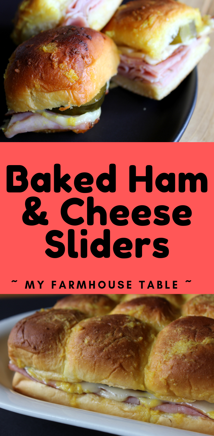 Baked Ham and Cheese Sliders with Hawaiian Rolls Easy Funeral Sandwiches Cuban Sliders Super Bowl Recipe Ideas Tailgating Recipe Ideas My Farmhouse Table