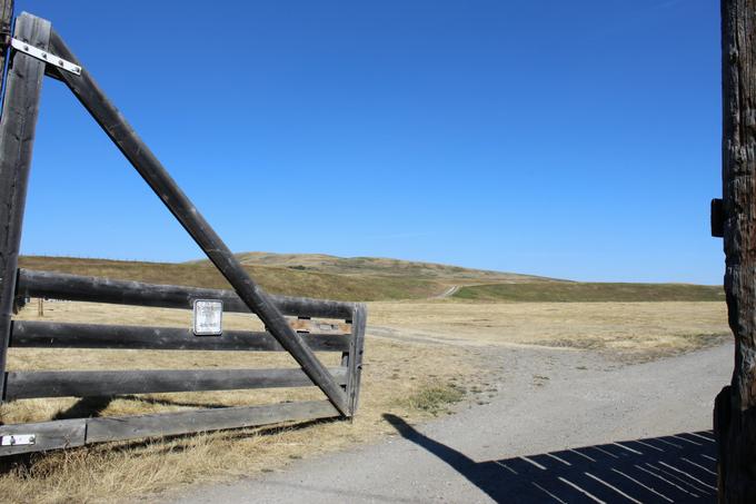 Bar U Ranch Gate Alberta Foothills My Farmhouse Table