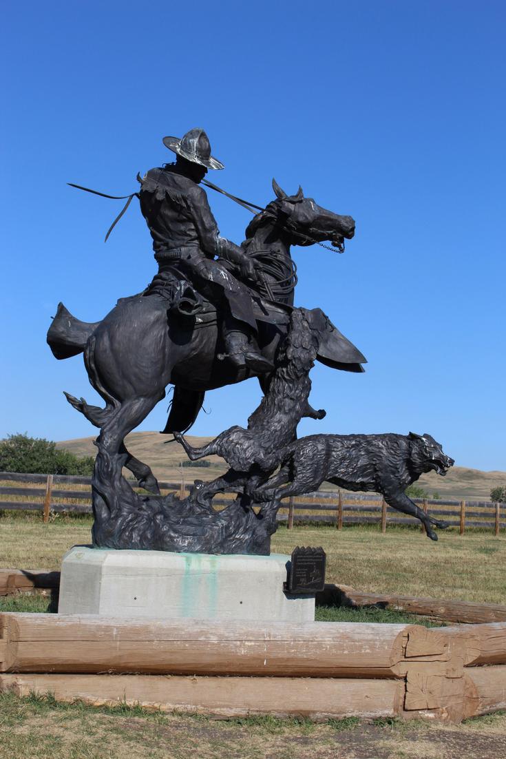 Bar U Ranch Statue Alberta Foothills My Farmhouse Table