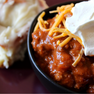Easy Make-Ahead Chili Recipe Freezer Chili Recipe The Best Chili Recipe Stovetop Crockpot Slow Cooker Few Ingredients Not Spicy Chili and Cinnamon Rolls Double Dinner Ground Beef Chili My Farmhouse Table