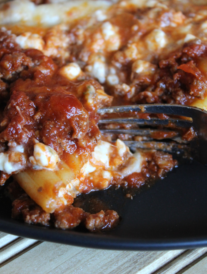 Beef and Cheese Manicotti Easy Recipe Classic Stuffed Maniccoti Freezer Casserole Meals My Farmhouse Table
