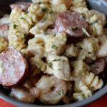 Creamy Cajun Past with Shrimp Chicken Sausage Easy One Pot Meal Simple Pasta Recipe My Farmhouse Table
