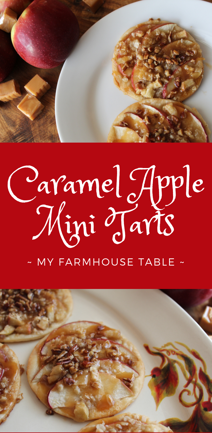 Caramel Apple Mini Tarts Caramel Apple Pie Easy Fall Dessert Ideas Fall Desserts Thanksgiving Pie Fancy Dessert Recipes Elegant Desserts With Pie Crust My Farmhouse Table
