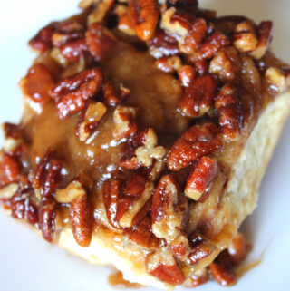 Caramel Pecan Sticky Bun Homemade Pecan Rolls The Best Cinnamon Rolls From Scratch Mother's Day Breakfast Recipe My Farmhouse Table