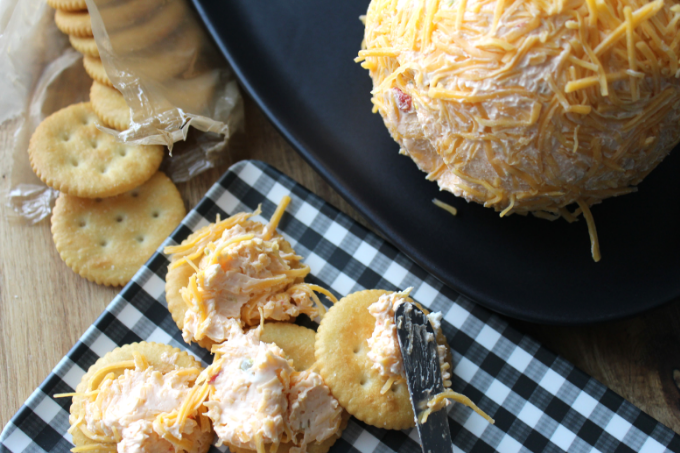 The Best Cheese Ball Recipe Easy Holiday Appetizer Pimento Cheese Ball Classic Cheddar Cheese Ball Halloween Thanksgiving Christmas New Years Super Bowl Party Food My Farmhouse Table