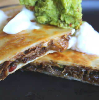 Beef Short Rib Quesadillas Quick and Spicy Mexican Quesadillas Cinco de Mayo Fiesta Ideas My Farmhouse Table Slow Cooker Meals