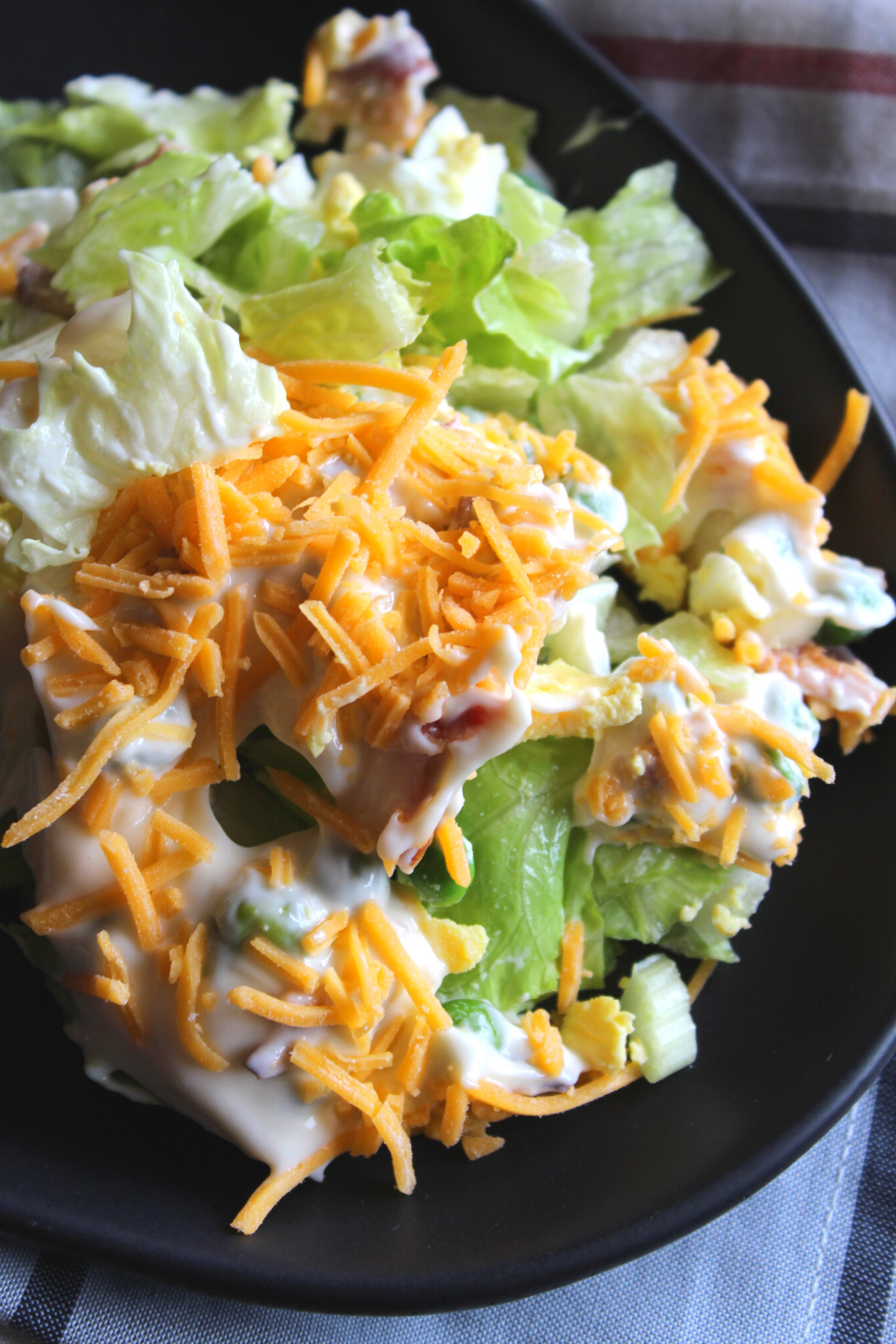 Classic 7 Layer Salad Recipe Easy Seven Layer Salad Recipe Traditional Pioneer Woman Recipe Potluck Salad Recipe 7 Layer Salad Dressing Mayo Recipe My Farmhouse Table