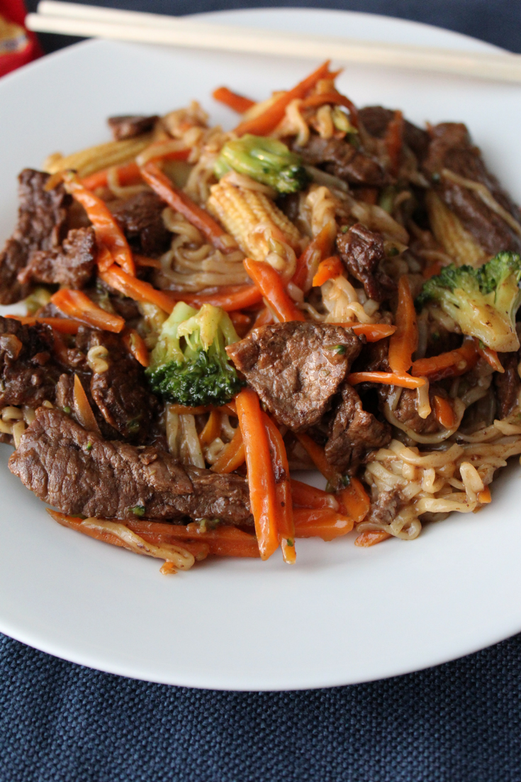 College Beef Stir Fry Ramen My Farmhouse Table Quick Healthy