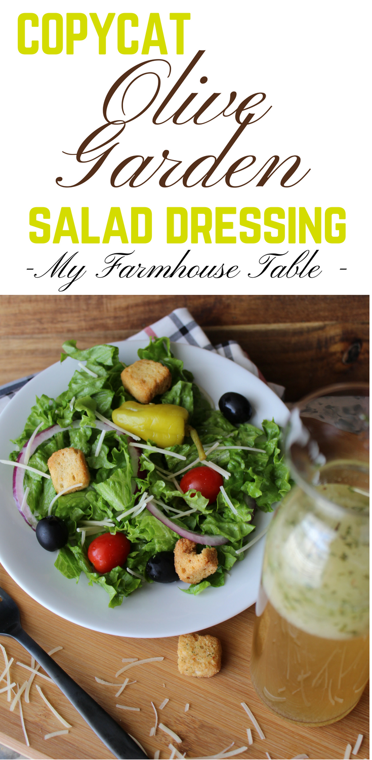 Copycat olive garden salad dressing my farmhouse table for Olive garden salad dressing ingredients