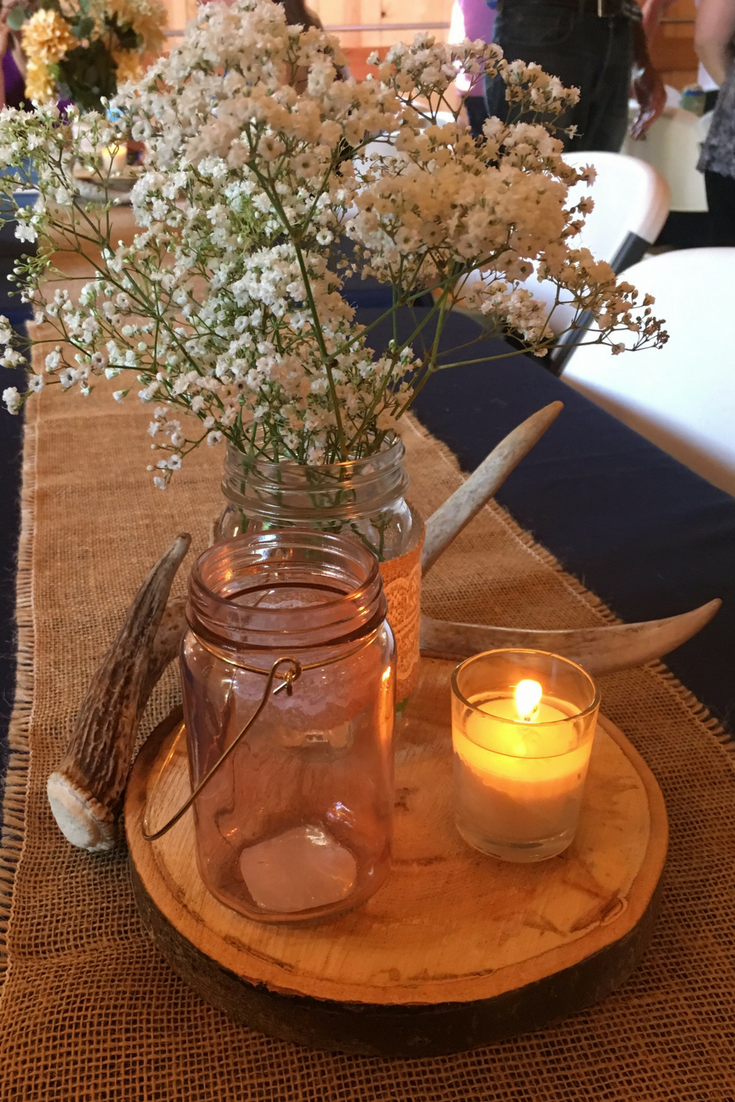 Country Wedding Rustic Centerpiece My Farmhouse Table