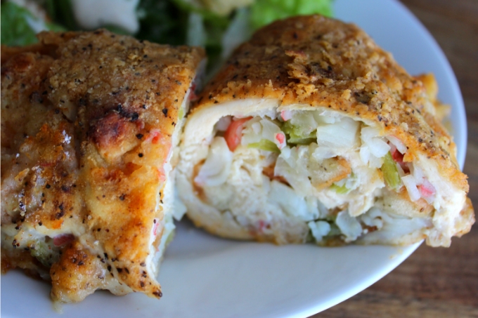Crab-Stuffed Chicken Breasts Romantic Dinner Recipe Ideas Valentine's Day Ideas Baked Chicken Recipes Easy Chicken Breast Recipes My Farmhouse Table
