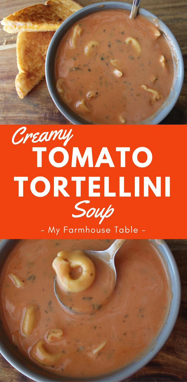 Creamy Tomato Tortellini Soup Tomato Soup Slow Cooker Quick Fix Almost Homemade Creamy Soup Recipe My Farmhouse Table