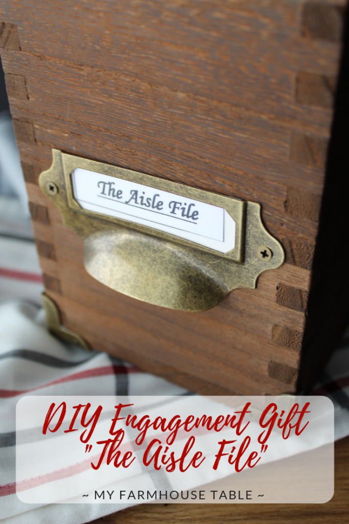 DIY Engagement Gift The Aisle File Engagement Gift Ideas For Newly Engaged Easy and Inexpensive Best Friend Engagement Gift Idea Basket