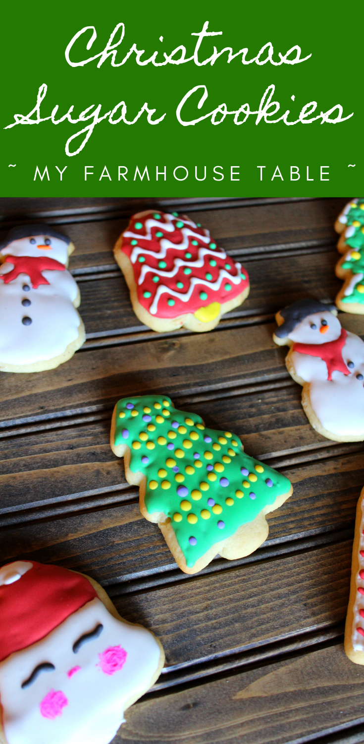 Decorated Christmas Sugar Cookies Easy and Simple Soft Sugar Cookie Recipe with Easy Royal Icing for Decorating Christmas Cookies Sugar Cookie Decorating Ideas to do with Kids My Farmhouse Table