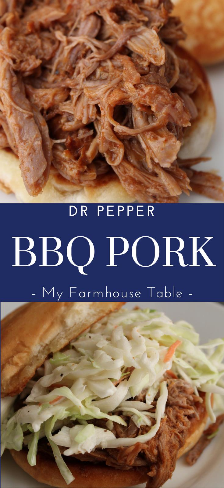 Dr Pepper BBQ Pork My Farmhouse Table Crockpot