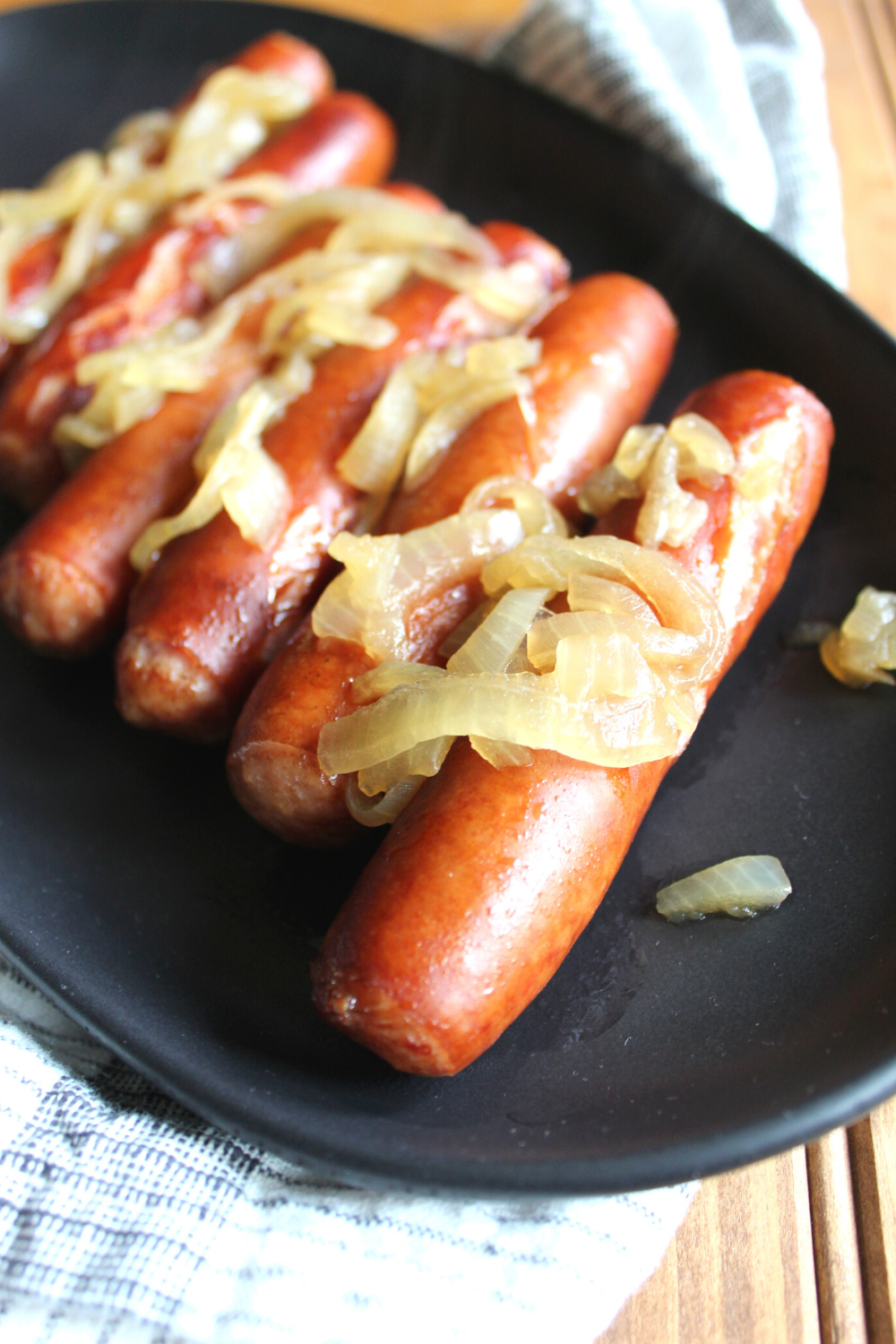 Instant Pot Beer Brats and Onions Simple and Easy Instant Pot Recipes Pressure Cooker Recipe Three Ingredient Dinner My Farmhouse Table