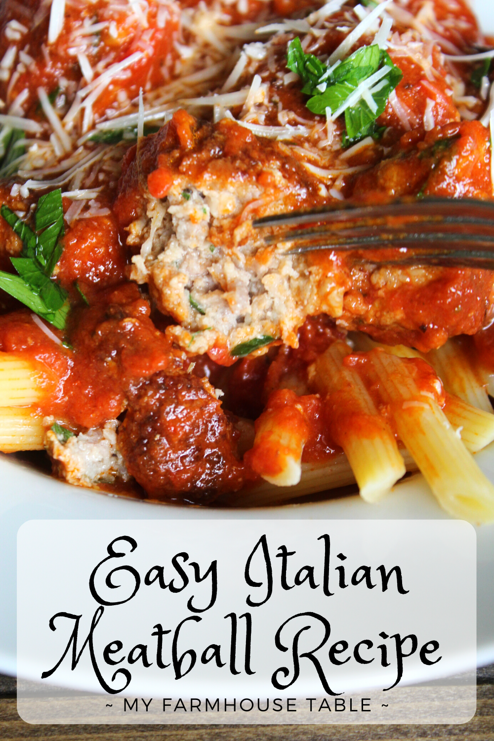 Easy Italian Meatball Recipe Authentic Ground Beef and Pork Meatballs made in Marinara Sauce The Best Homemade Meatball Recipe Traditional and Simple My Farmhouse Table