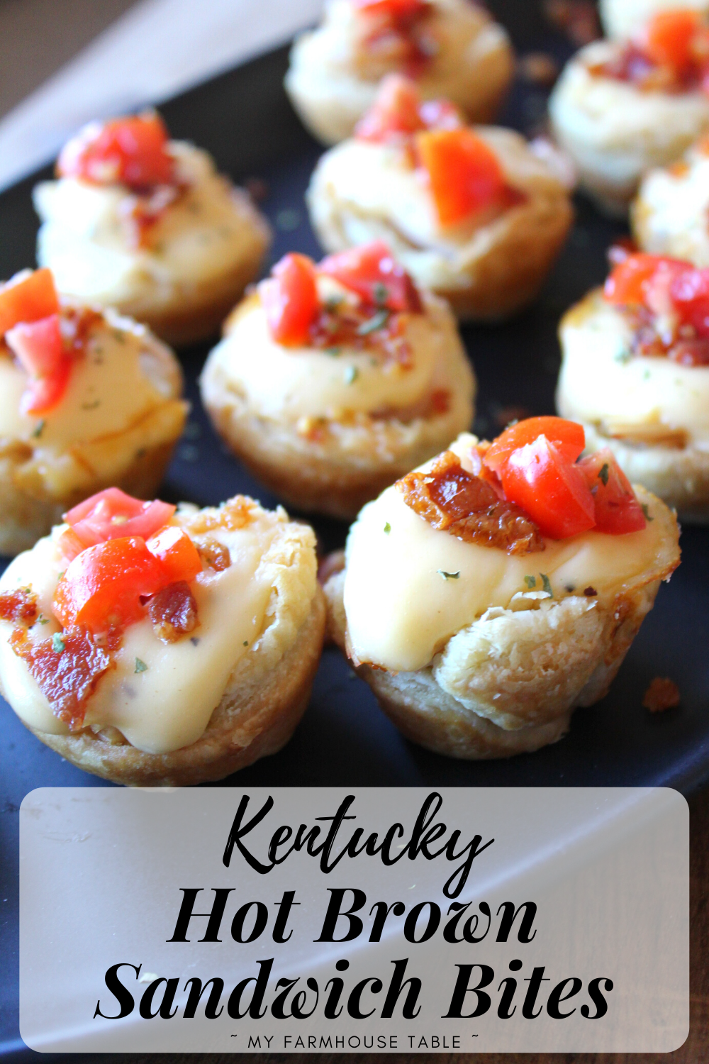 Kentucky Hot Brown Sandwich Bites Simple and Easy Kentucky Derby Party Appetizer Ideas The Hotel Brown Hot Brown Sliders My Farmhouse Table