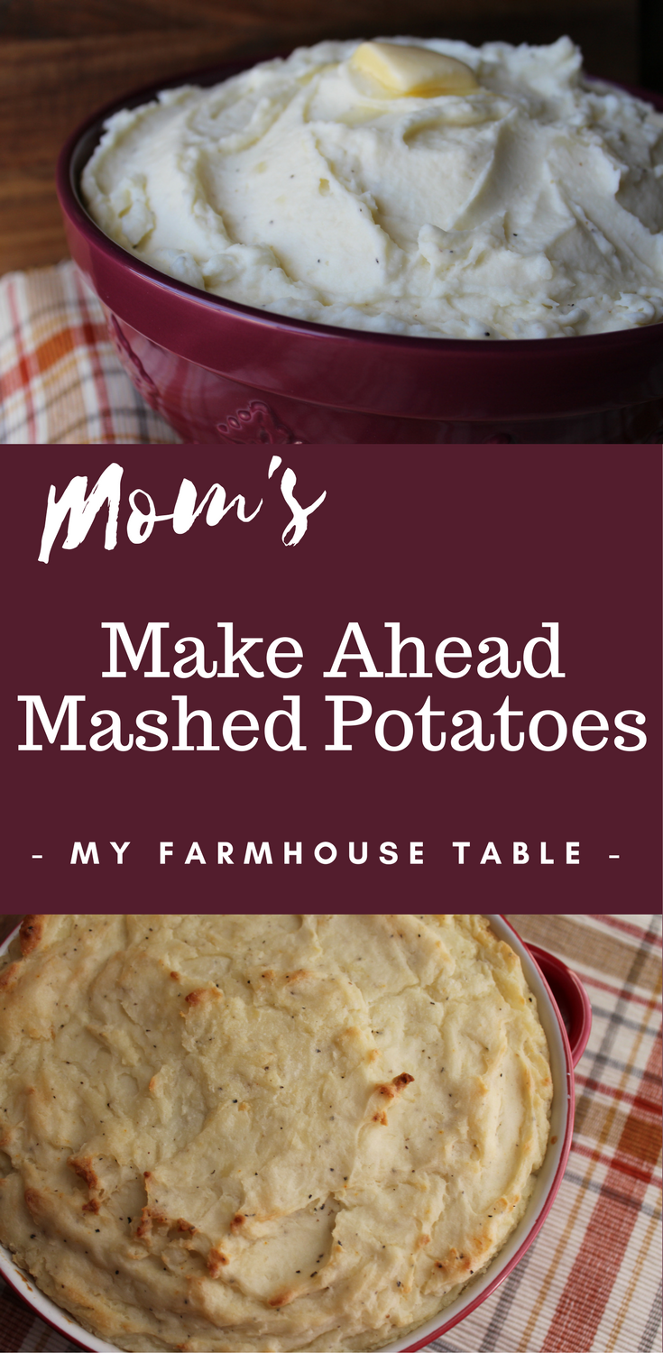 Make Ahead Mashed Potatoes My Farmhouse Table Thanksgiving Recipe Christmas Recipe Slow Cooker Crockpot Side Dish Recipe