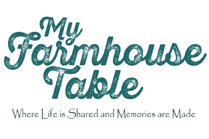 My Farmhouse Table Logo First Blog Post