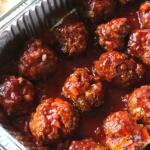 Oven Baked BBQ Meatballs