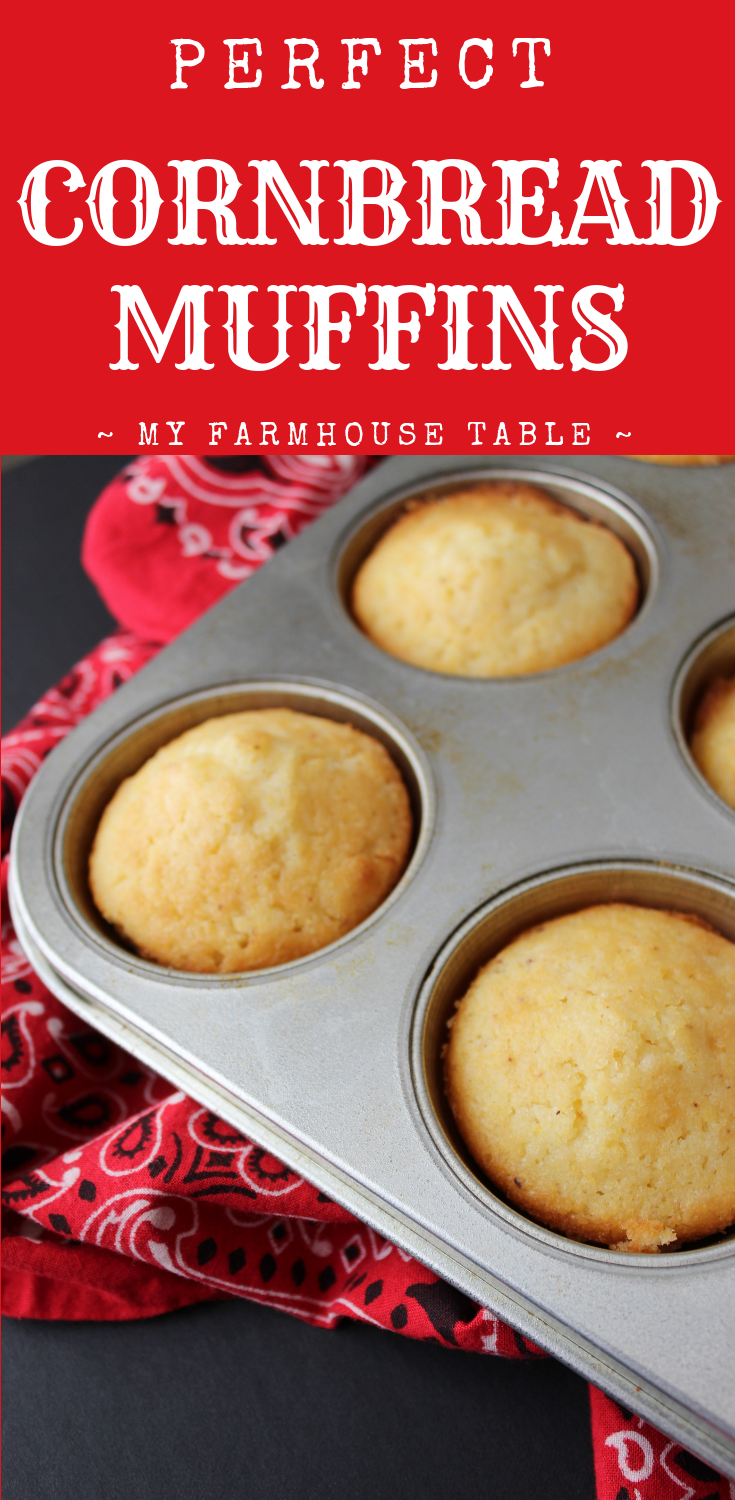 Perfect Cornbread Muffins Easy Cornbread Recipe Just Like Jiffy Sweet Cornbread Recipe The Best Cornbread Recipe My Farmhouse Table