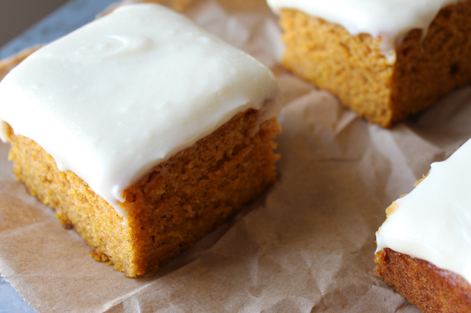 Pumpkin Bars with Cream Cheese Frosting My Farmhouse Table Fall Pumpkin Cake Moist