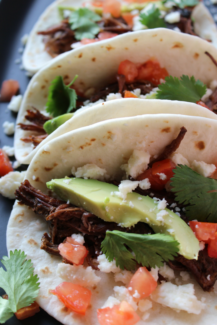 Slow Cooker Beef Street Tacos Easy Cinco de Mayo Recipes Crockpot Beef Tacos Steak Tacos Beef Carnitas My Farmhouse Table
