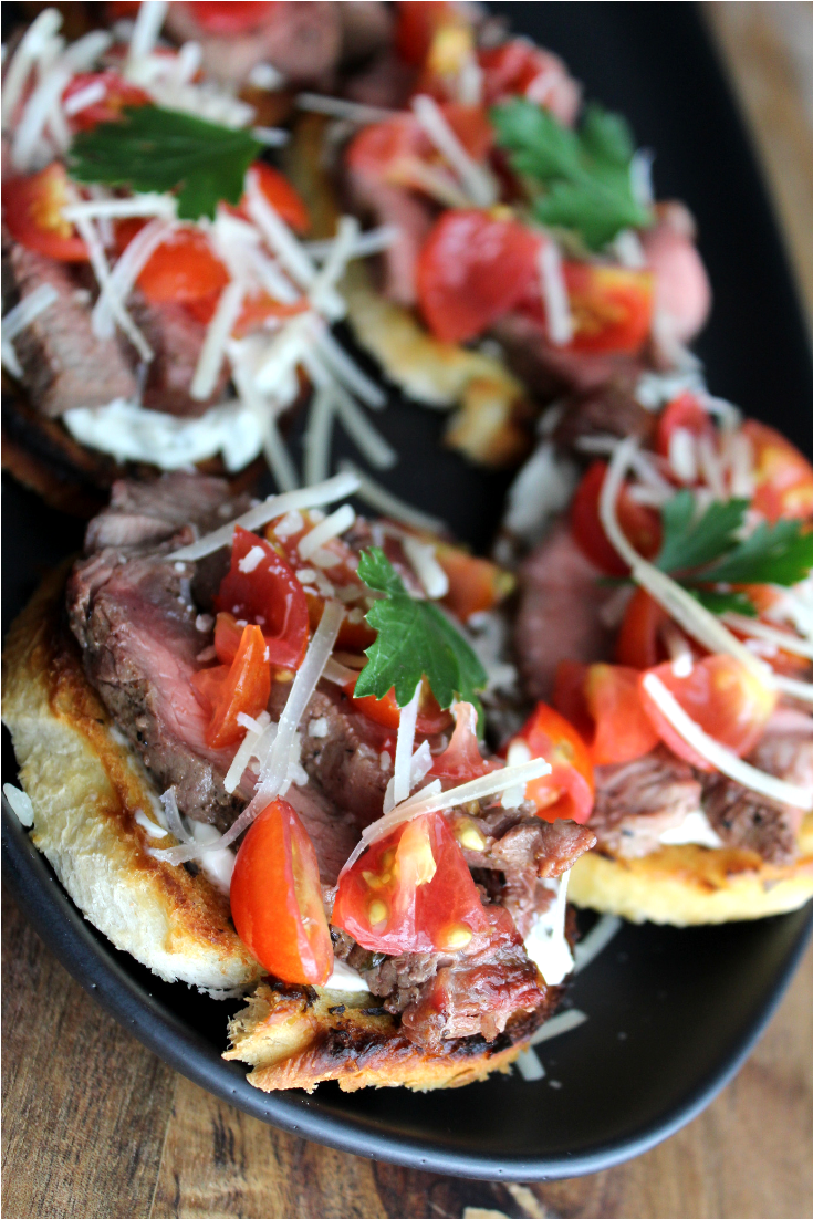 Cowboy Steak Bruschetta Recipe Easy Bruschetta Recipe Chicken Bruschetta Recipe Appetizers Beef Bruschetta Bar Party Food Beef Canape My Farmhouse Table