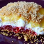 Strawberry Rhubarb Dessert Bars