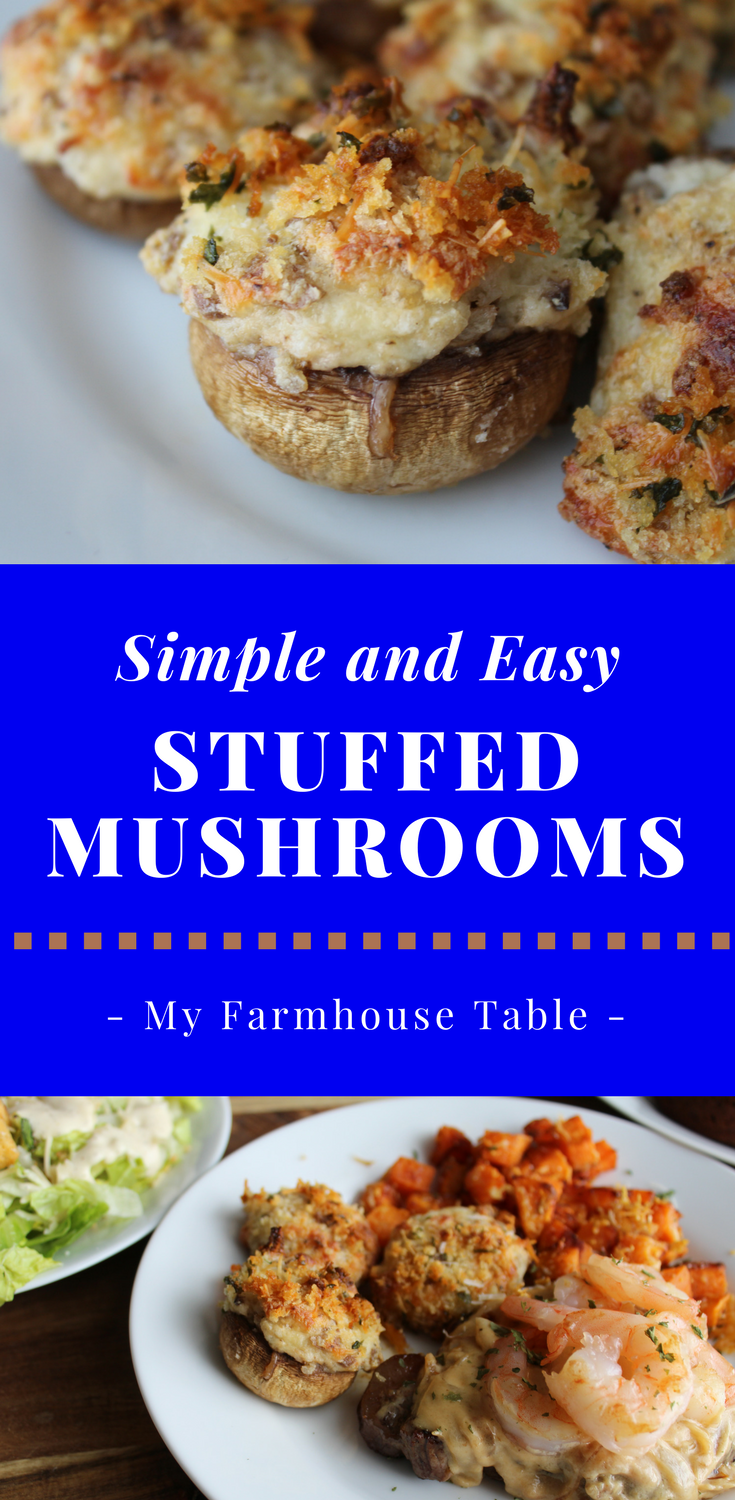 The Best Stuffed Mushrooms Recipe Perfect Simple Easy Stuffed Mushrooms with Cream Cheese Garlic Butter Vegetable Side Dish Recipe Party Appetizers Appetizers for a Party