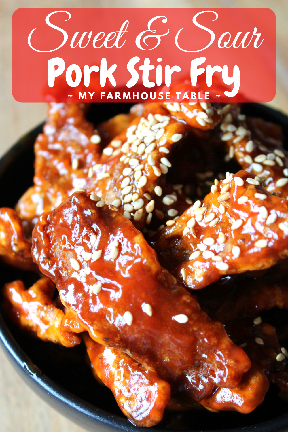 Sweet and Sour Pork Stir Fry Simple and Easy Chinese Food Recipes Crispy Pork Takeout Fake out Ideas My Farmhouse Table