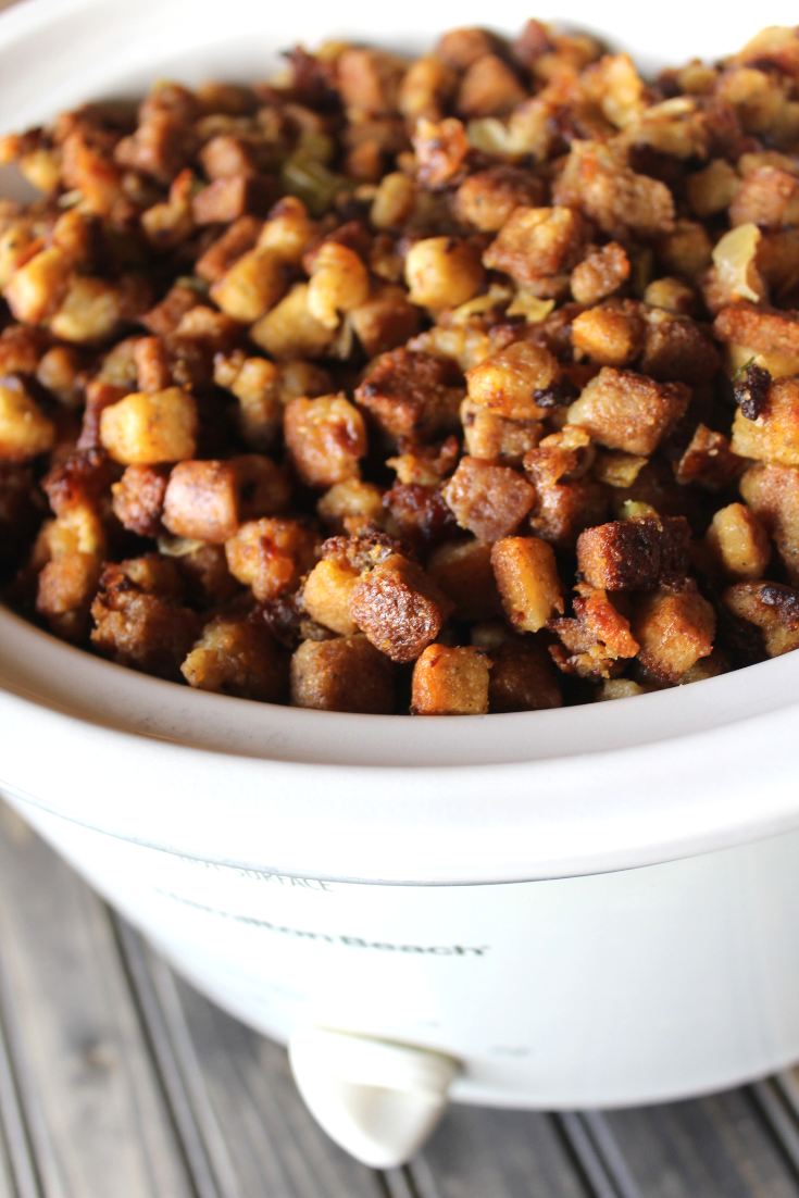 Crockpot Thanksgiving Dressing Homemade Stuffing Recipe Easy Sausage Stuffing Simple Holiday Hamburger Dressing My Farmhouse Table
