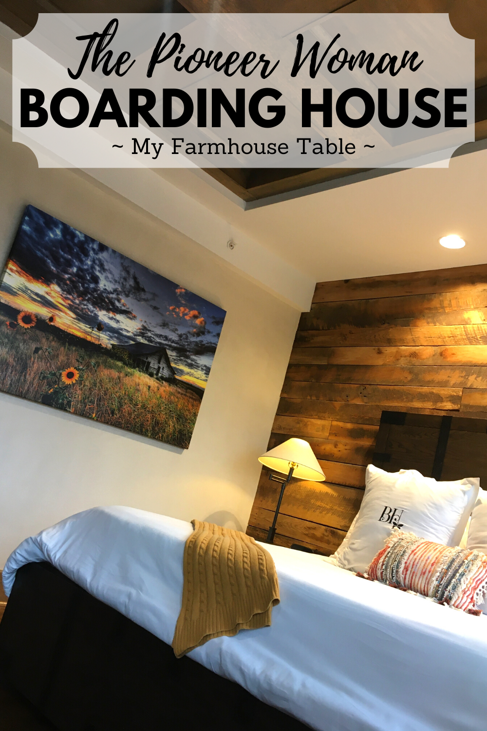 Pioneer Woman Boarding House Reservations How to get a reservation at the PW Boarding House hotel in Pawhuska Oklahoma Boutique Western Hotel Amenities Room Service Individual Rooms My Farmhouse Table