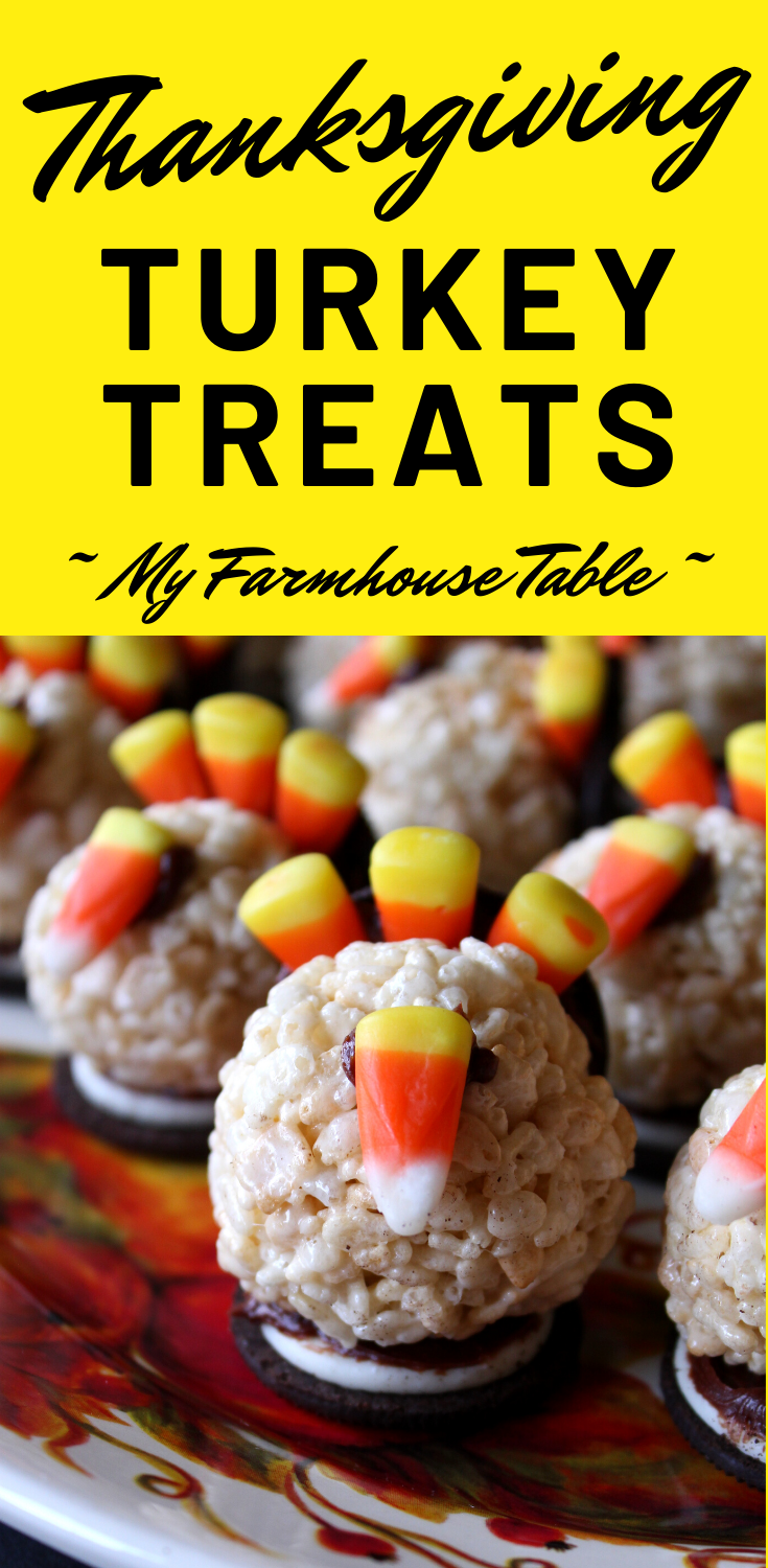 Thanksgiving Turkey Treats for Kids Easy Rice Krispie Treat Thanksgiving Treats for School Parties Thanksgiving Dessert Ideas My Farmhouse Table