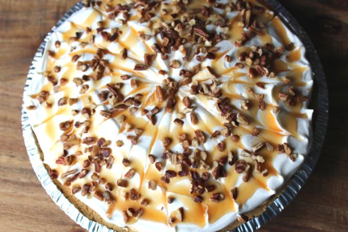 Turtle Pumpkin Pie Thanksgiving Pie Recipes Pumpkin Spice Desserts Caramel Pecan Pie Cream Pie Recipe With Whipped Topping Pumpkin Pie My Farmhouse Table