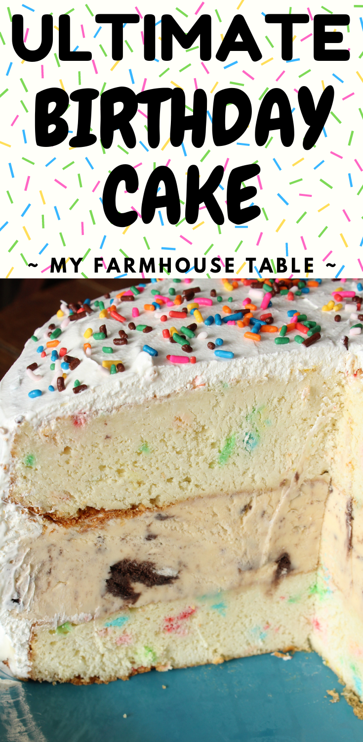 Astounding Ultimate Birthday Cake My Farmhouse Table Birthday Cards Printable Trancafe Filternl